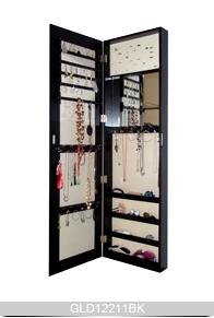 Grand miroir armoire bijoux en bois suspendue au dessus - Fixer un grand miroir au mur ...