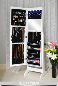 Full Length Dressing Mirror With Storage Cabinet For