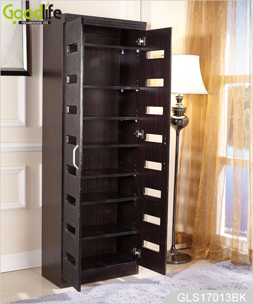 excellent wholesale shoe racks high capacity living room furniture   Full length wooden shoe storage cabinet with movable ...