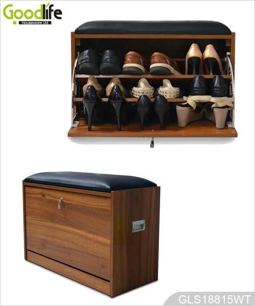 Modern design shoe rack designs wood for Zapatero mueble easy