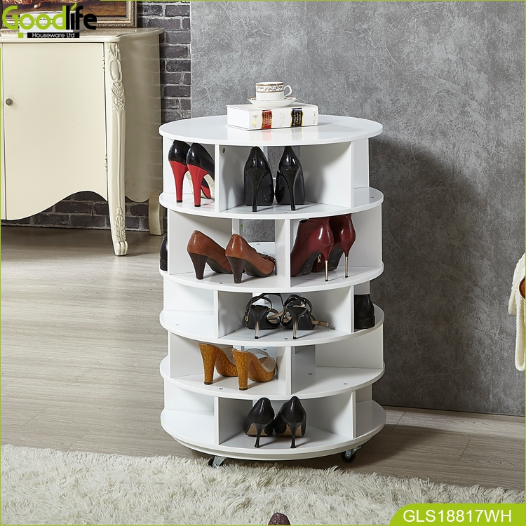 Goodlife Entryway Furniture Rotating Shoe Rack Shoes