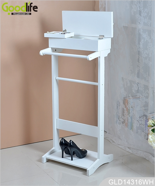 ... Goodlife KD Furniture Wooden Coat Valet Stand For Home GLD14316