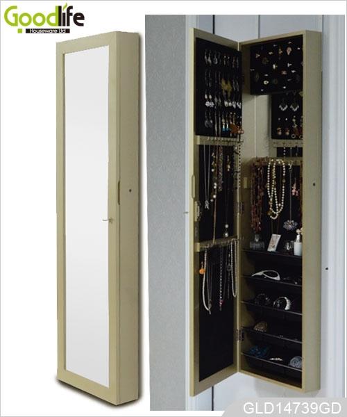 Goodlife classic wall mount mirror alahas storage cabinet - Miroir coffret a bijoux ...