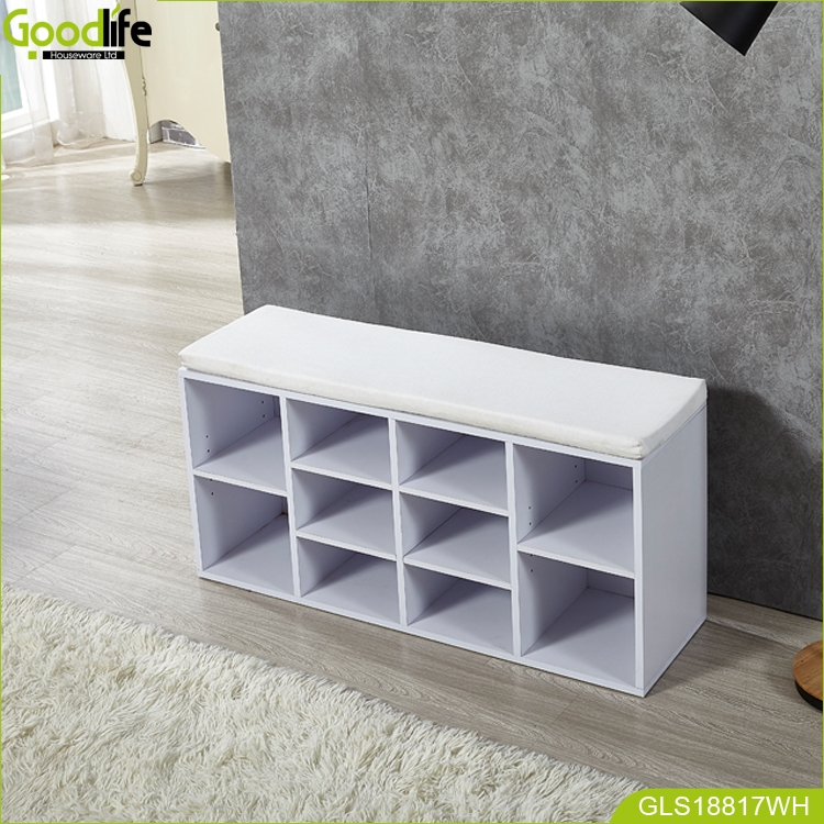 New arrival ebay hot style seated wooden shoes cabinet stool ottoman with sofa for Living room bench with storage