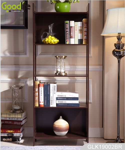 Living Room Wooden Storage Rack With 5 Shelves