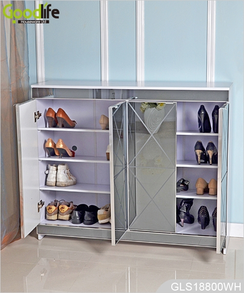 Ordinaire Luxury Mirrored Wooden Shoes Storage Cabinet For Living Room GLS18800 ...