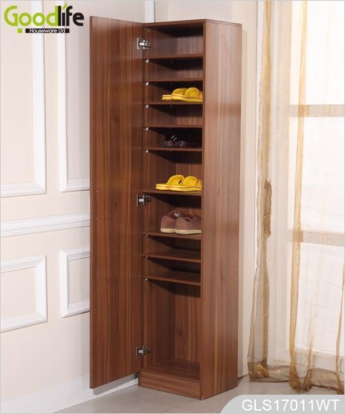 mdf wooden shoe rack cabinet with storage shelves inside. Black Bedroom Furniture Sets. Home Design Ideas