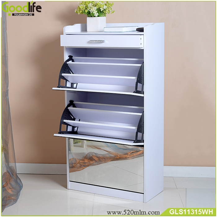 Mirrored Furniture Luxury Shoe Cabinet With Storage Drawers Living Room Furniture