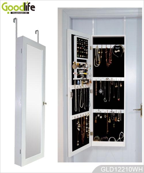 Mirrored pared del gabinete de la joyería montado armario con espejo ...