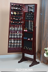 New Design Standing Wooden Full Length Mirrored Jewelry