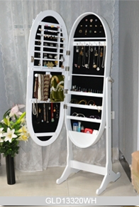 miroir armoire de rangement des bijoux avec miroir ovale dressing. Black Bedroom Furniture Sets. Home Design Ideas