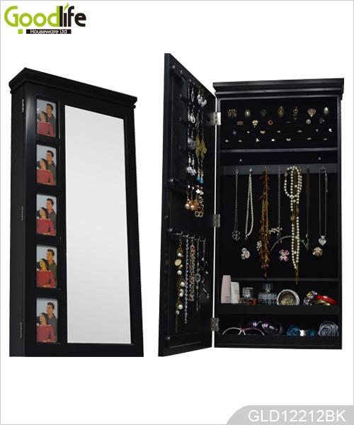 Armadio gioielli popolari in legno a specchio per il titolare gioielli con specchio spogliatoio - Armadio specchio gioielli ...