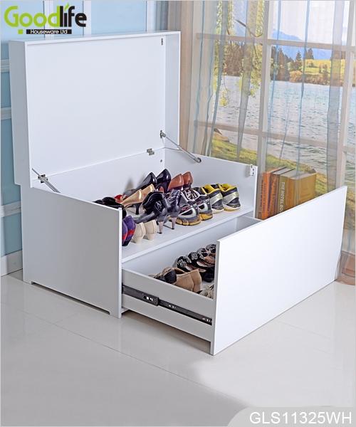 Nueva llegada muebles de lujo sentados zapato organizador zapato ...