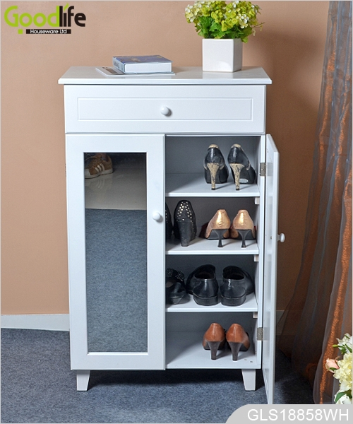 Solid wood furniture Amazon style wooden shoe storage cabinet with – Solid Wood Storage Cabinet