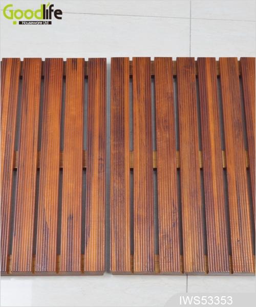 Teak Wood Door Design Mat For Bathing Safety Iws53353