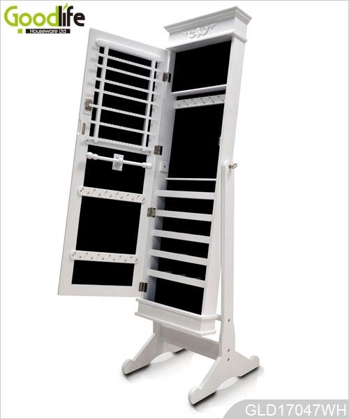Miroir Sur Pied En Bois Bijoux : Full Length Mirror Storage Cabinet