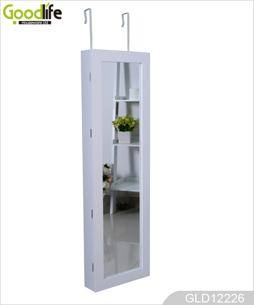 Pared de espejos colgantes de madera del gabinete de for Gabinete de almacenamiento de bano de madera
