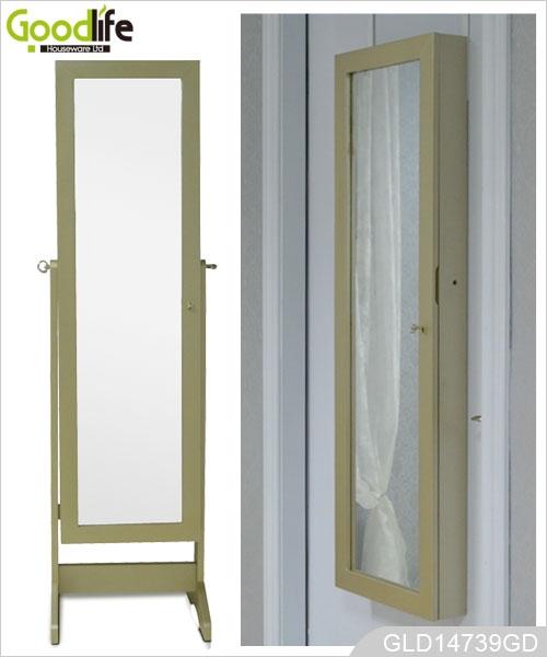 Miroir mural et meubles miroir guangdong armoire bijoux for Miroir mural en bois