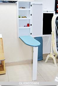 mural pliant bois planche repasser armoire avec miroir. Black Bedroom Furniture Sets. Home Design Ideas