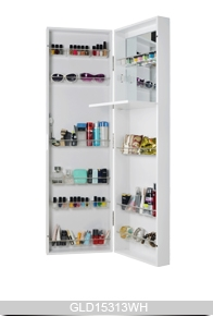 wall mounted or hanging over the door mirrored makeup cabinet for bedroom bathroom and living room. Black Bedroom Furniture Sets. Home Design Ideas