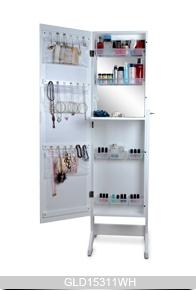 blanc maquillage organisateur de bijoux armoire avec. Black Bedroom Furniture Sets. Home Design Ideas