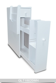 Blanc armoire de toilette en bois avec le magazine - Meuble rangement papier toilette ...