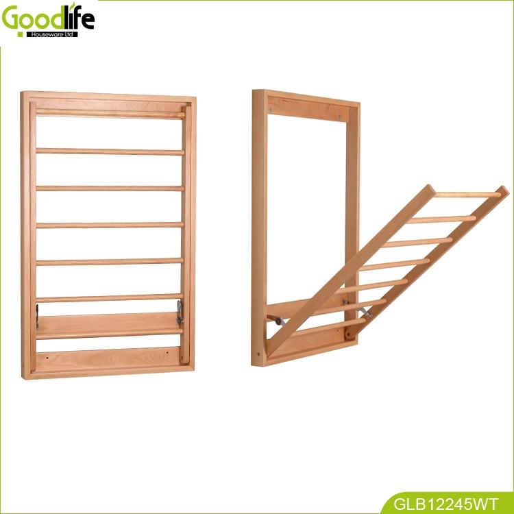Wholesale bathroom wall mounted wood shelf towel rack for - Bathroom wall cabinet with towel rack ...