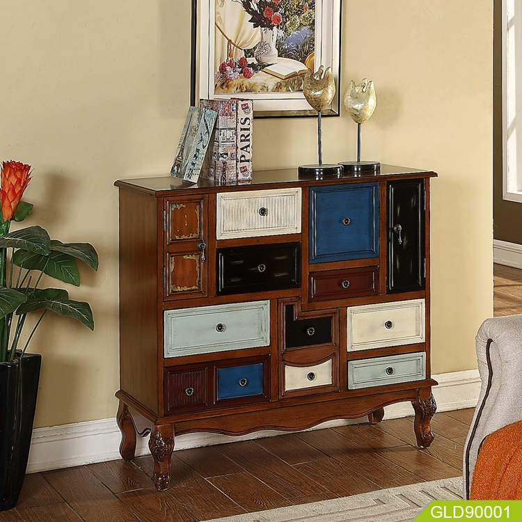 Wood modern new design storage chest with nine drawer two ...