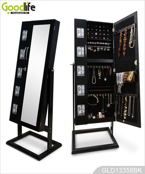 Gabinete de almacenaje de la joyer a con el paquete de for Espejo de pared cuerpo entero