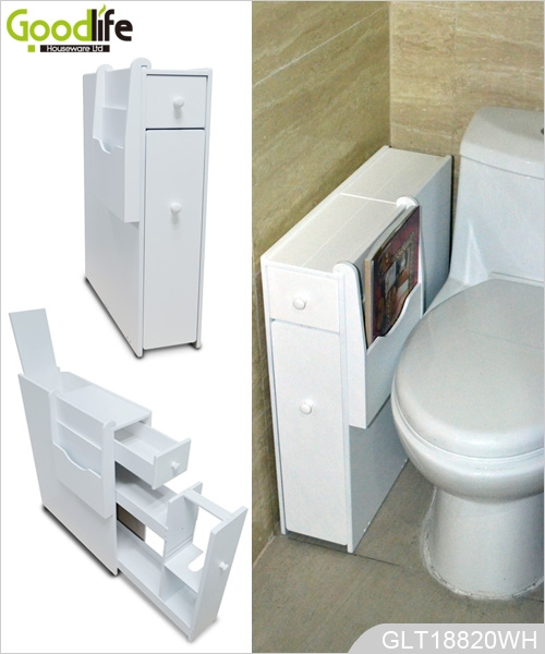 Corner Cabinet Wooden Living Room Furniture With Bathroom Use For Toilet Paper And Magazines