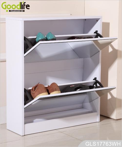 ... Furniture Mdf Storage Cabinet Wooden Shoe Cabinet 2 Mirrors Door ...