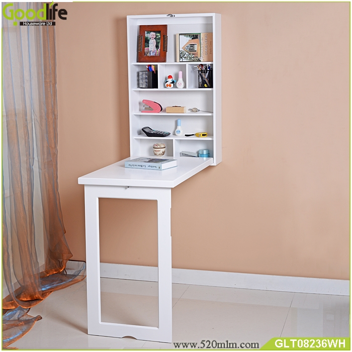 Wall Mounted Study Table With Bookshelf Fit To Children