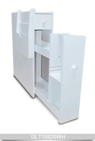 Bois armoire de rangement gain de place coin meuble salle - Armoire d angle salle de bain ...